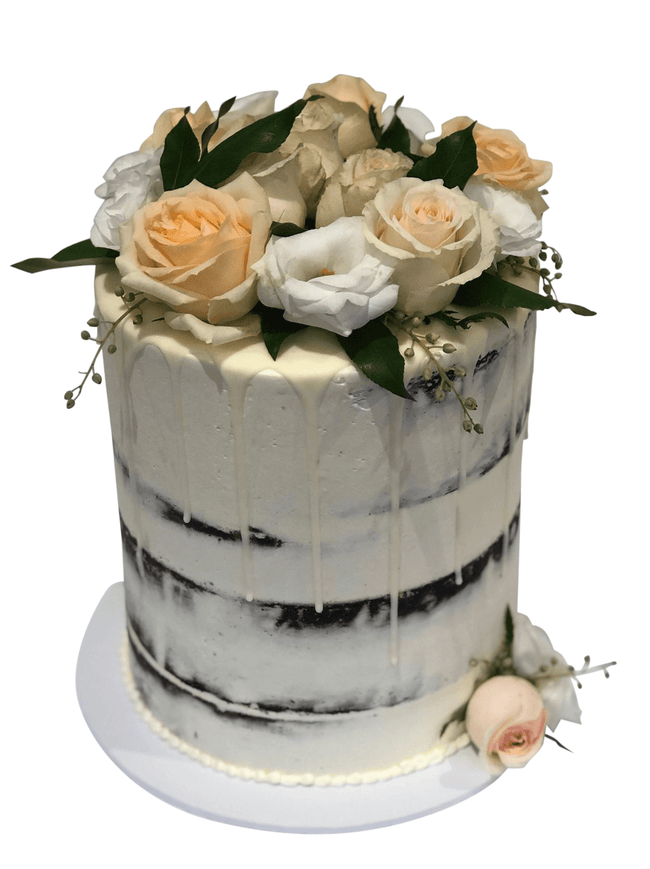 Cake Creations by Kate™ SpecialityCakes All About Peach and White Floral Double-Height Speciality Cake