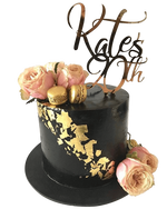 Black and Gold Extended Height Speciality Cake