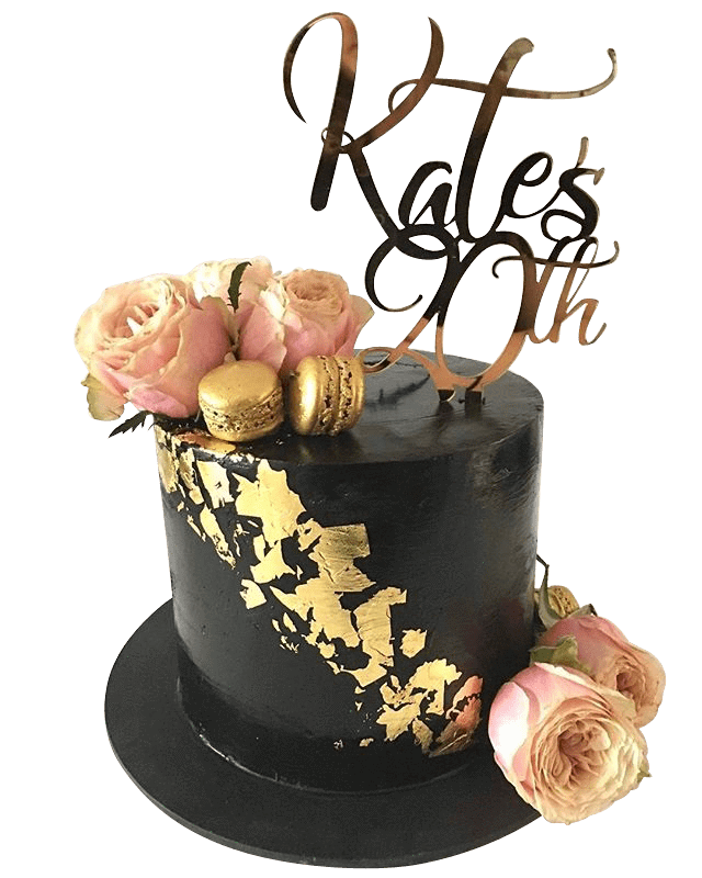 Cake Creations by Kate™ SpecialityCakes Black and Gold Extended Height Speciality Cake