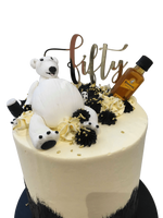 Cake Creations by Kate™ SpecialityCakes Black and White Polar Bear Double-Height Buttercream Speciality Cake