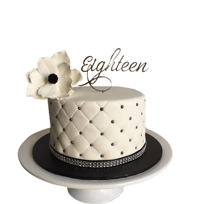 Cake Creations by Kate™ SpecialityCakes Black and White Quilted Fondant Speciality Cake