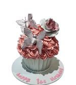 Cake Creations by Kate™ SpecialityCakes Butterflies and Rose Giant Cupcake