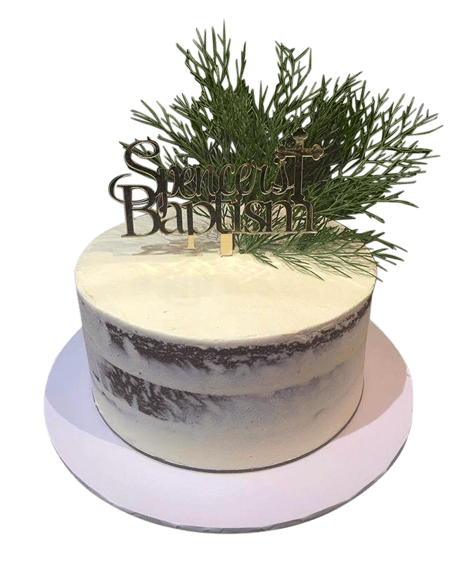 Cake Creations by Kate™ SpecialityCakes Classic White Baptism Speciality Cake