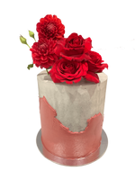 Cake Creations by Kate™ SpecialityCakes Concrete Buttercream with Textured Overlap Floral Double Height Speciality Cake
