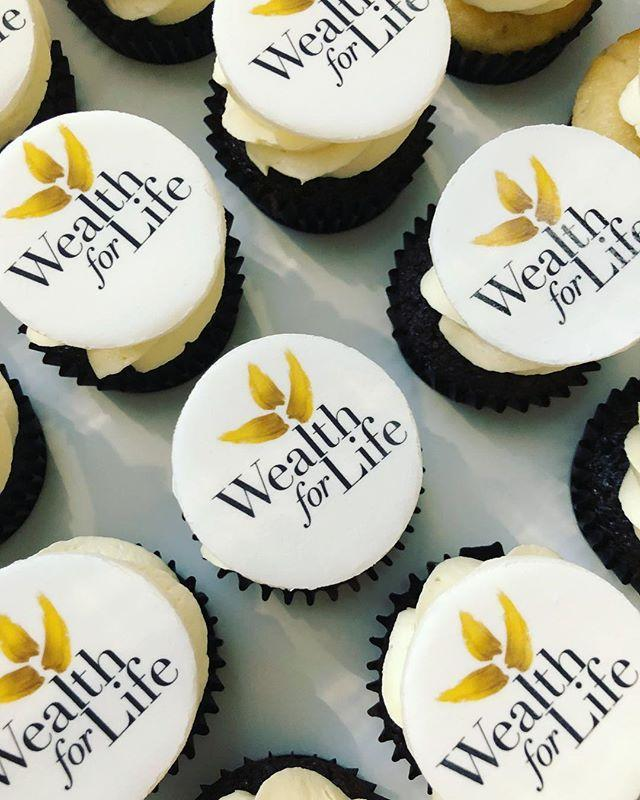 Corporate Logo Mini Cupcakes - Mini Cupcakes