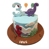 Cute Baby Dinosaurs Fondant Speciality Cake