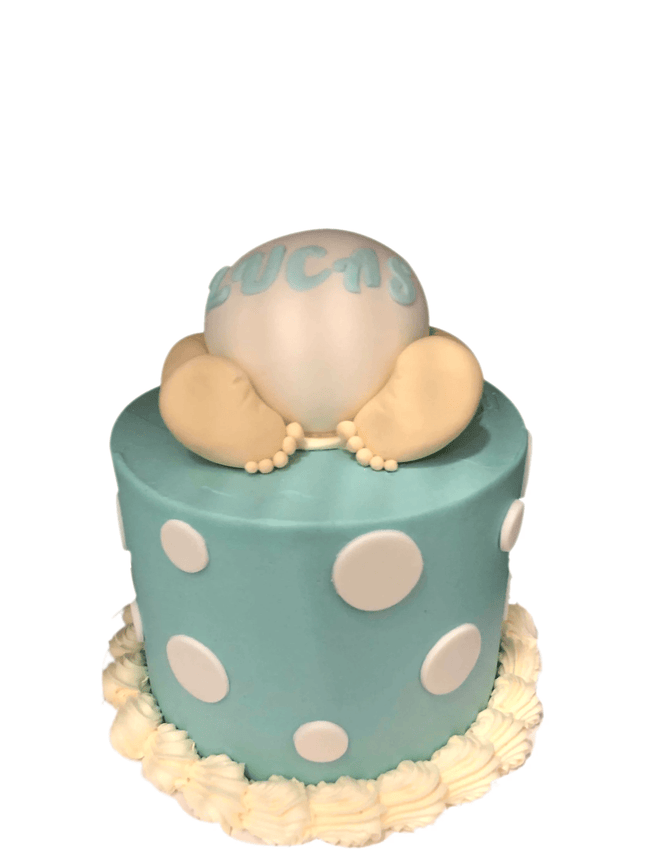 Cake Creations by Kate™ SpecialityCakes Cute Baby Nappy Blue Smooth Buttercream Speciality Cake