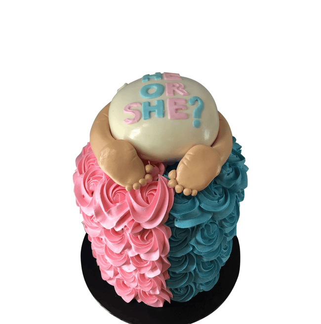 Cake Creations by Kate™ SpecialityCakes Cute Baby Nappy Extended Height Speciality Cake