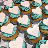 Embossed Hearts Large Cupcakes