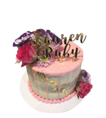Cake Creations by Kate™ SpecialityCakes Floral Purple, Pink and Gold Semi-Naked Buttercream Speciality Cake
