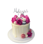Cake Creations by Kate™ SpecialityCakes Fuchsia and White Smooth Buttercream Speciality Cake