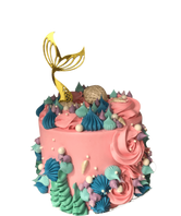 Gold Mermaid Tail and Pink Buttercream Speciality Cake