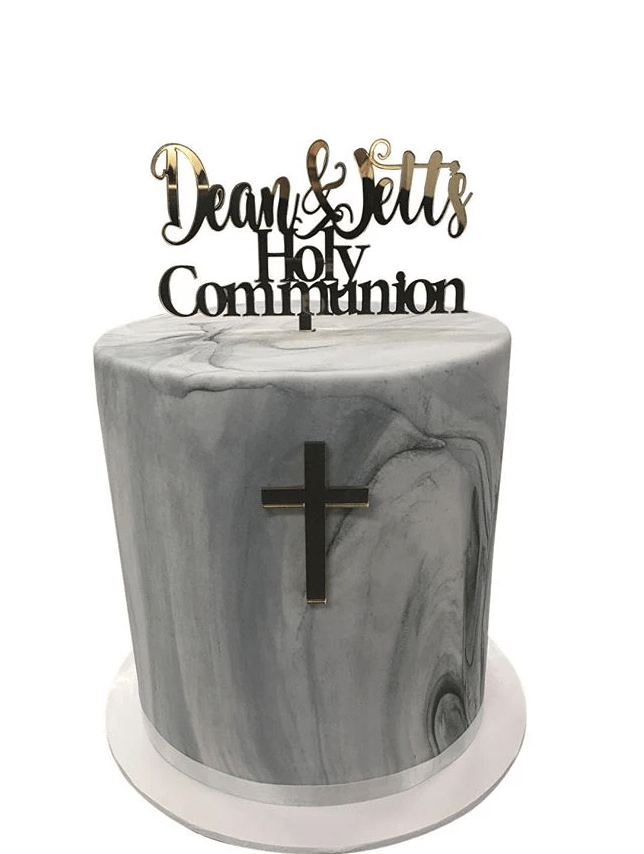 Cake Creations by Kate™ SpecialityCakes Grey Marble Double Height Fondant Speciality Cake