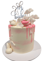 Heavenly Clouds Watercolour Buttercream Double Height Speciality Cake