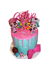 Hot Pink Baby Dolls Buttercream Extended Height Speciality Cake