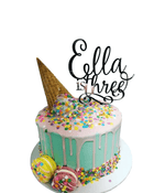 Cake Creations by Kate™ SpecialityCakes Ice Cream Cone Rainbow Sprinkles Speciality Cake