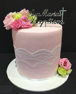 Lace Detail Double-Height Fondant Speciality Cake - Speciality cakes