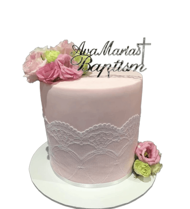 Cake Creations by Kate™ SpecialityCakes Lace Detail Double-Height Fondant Speciality Cake