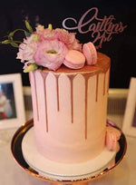 Cake Creations by Kate™ SpecialityCakes Metallic Drip Floral Speciality Cake