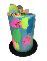 Modern and Colourful Buttercream Double-Height Speciality Cake
