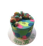 Modern and Colourful Standard Height Buttercream Speciality Cake