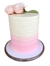 Ombre Buttercream Rough Spatula Double Height Speciality Cake