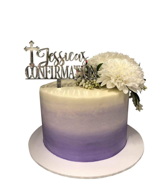 Cake Creations by Kate™ SpecialityCakes Ombre Purple and White Buttercream Floral Speciality Cake