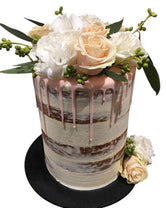 Peach, White and Pink Semi-Naked Speciality Cake