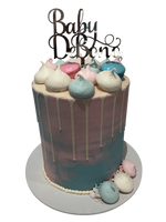 Cake Creations by Kate™ SpecialityCakes Pink and Blue Meringue Kisses Double-Height Buttercream Speciality Cake