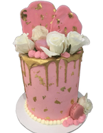 Cake Creations by Kate™ SpecialityCakes Pink and Gold Smooth Buttercream Double Height Speciality Cake