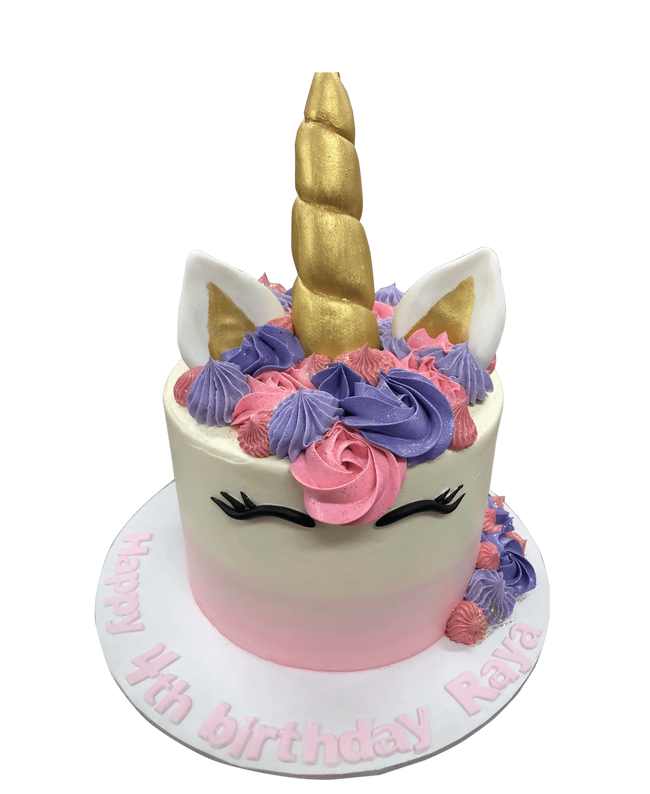 Cake Creations by Kate™ SpecialityCakes Pink and Purple Unicorn Speciality Cake