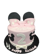 Pink Bow and Mouse Ears Fondant Speciality Cake