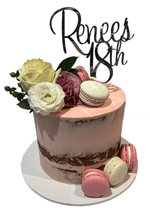 Pink Floral Semi-Naked Buttercream Extended Height Speciality Cake