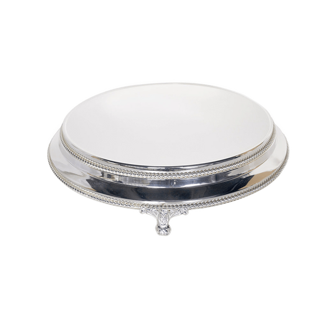 Cake Creations by Kate™ StandHire Plateau Silver Cake Stand Hire - 16 inch