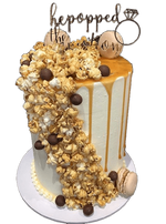 Popcorn and Caramel Drip Buttercream Speciality Cake