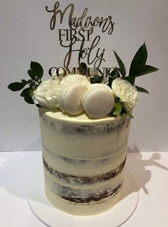 Cake Creations by Kate™ SpecialityCakes Pure White Semi-Naked Double-Height Speciality Cake