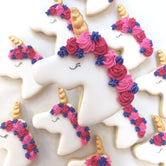 Purple/Pink Unicorn Vanilla Biscuit
