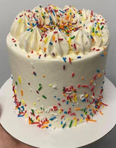 5 Inch Mini Rainbow Sprinkle Cake