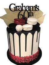 Red, Black and White Buttercream Double Height Speciality Cake