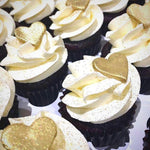 Shimmering Heart Mini Cupcakes