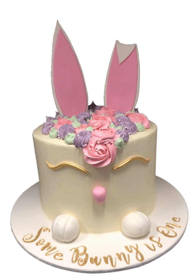 Cake Creations by Kate™ SpecialityCakes Some Bunny is One Smooth Buttercream Extended Height Speciality Cake