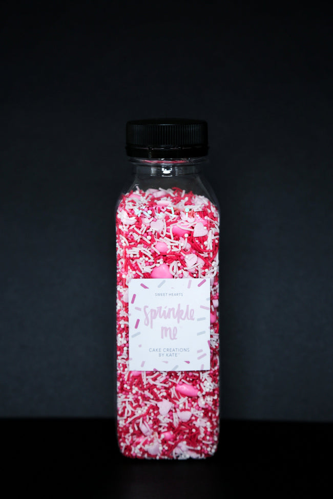 Sprinkle Me Sweet Hearts - 330G Bottle - Sprinkles