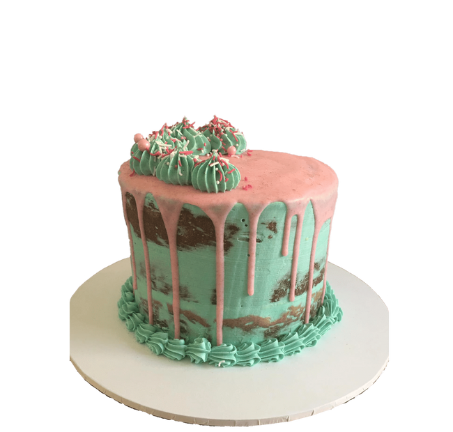 Cake Creations by Kate™ SpecialityCakes Turquoise and Pink Semi-Naked Buttercream Speciality Cake