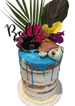 Cake Creations by Kate™ SpecialityCakes Turtle Love Semi-Naked Double Height Speciality Cake