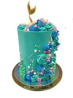 Cake Creations by Kate™ SpecialityCakes Under the Sea Mermaid Fantasy Buttercream Double Height Speciality Cake