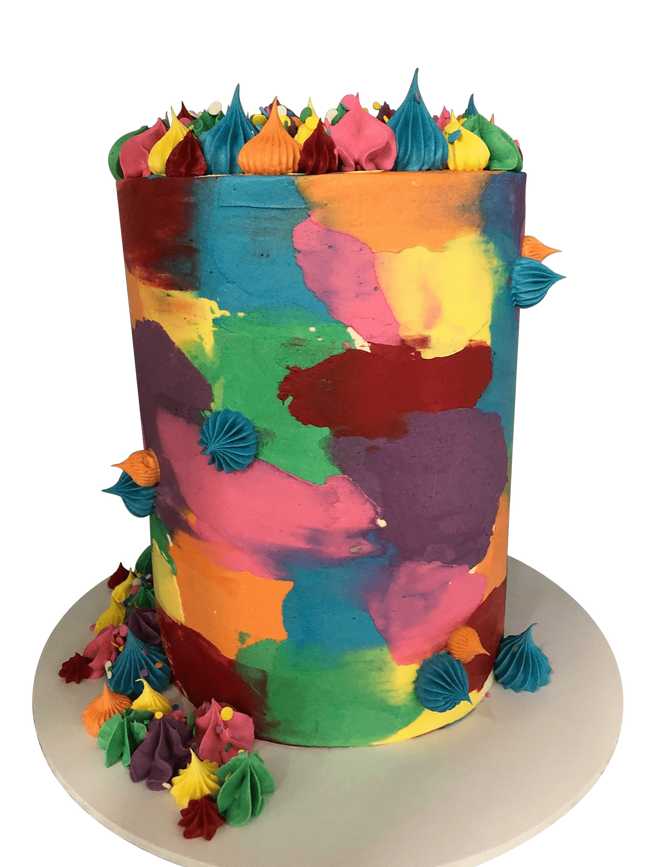 Cake Creations by Kate™ SpecialityCakes Vibrant Patchy Watercolour Buttercream Double-Height Speciality Cake