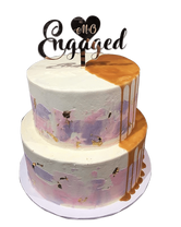 Watercolour and Caramel Drip 2-Tier Speciality Cake