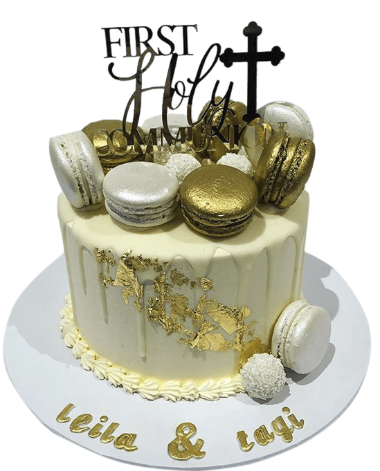 Cake Creations by Kate™ SpecialityCakes White and Gold First Holy Communion Speciality Cake