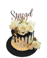 White Floral and Gold Flakes Smooth Buttercream Speciality Cake
