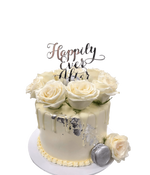 White Roses and Silver Flakes Smooth Buttercream Speciality Cake